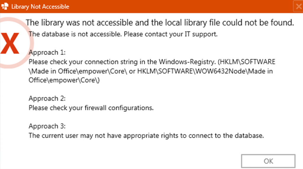 Azure RMS Connector - The library was not accessible and the local library file could not be found. The database is not accessible. Please contact your IT support.