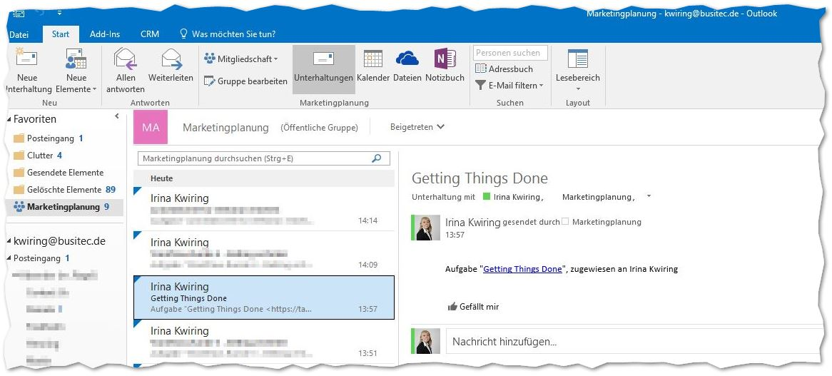 Planner/ Office Groups - Outlook Integration