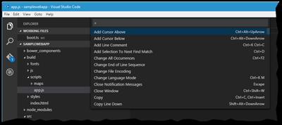 Kommandomodus von Visual Studio Code