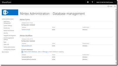 Zentraladministration - Einheitliche Datenbankverwaltung