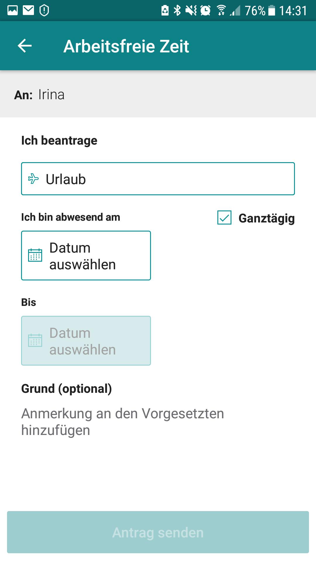 Microsoft StaffHub App - Urlaub beantragen