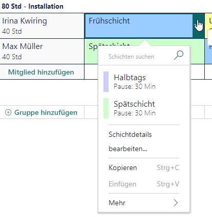 Microsoft StaffHub-Schichtplanung
