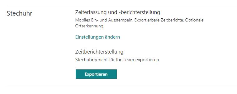 Microsoft StaffHub-Zeiterfassung