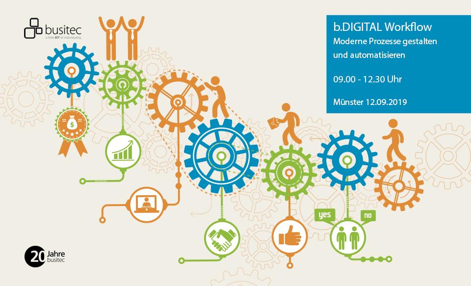 Event, Workflow, Prozesse, Automatisierung, Digitalisierung, Münster