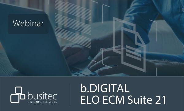 Webinar zu ELO ECM Suite 21